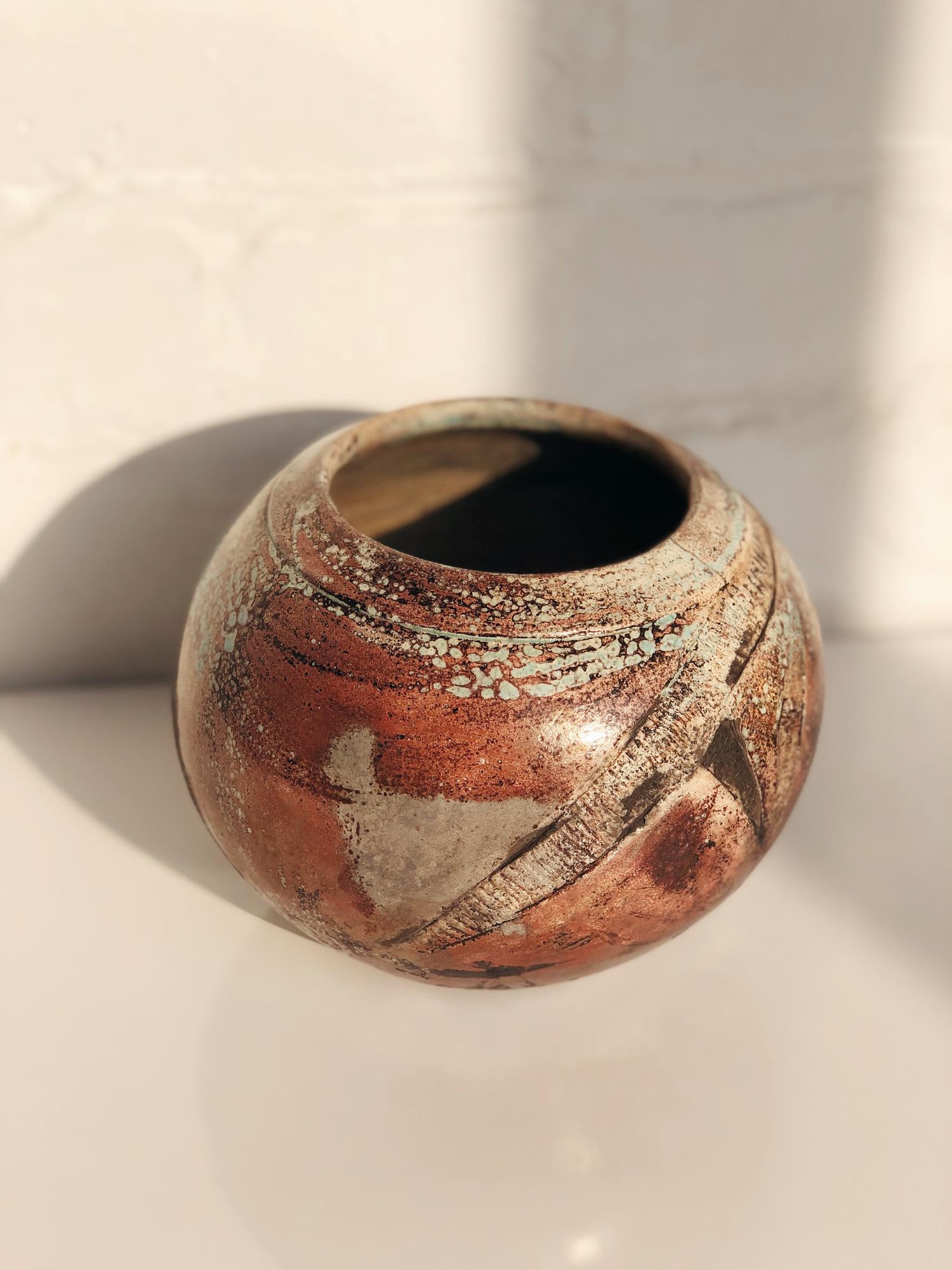Vintage Abstract Ceramic Pot