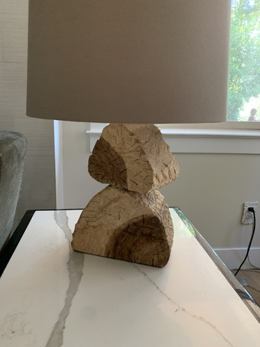 Wood Remnant Stack Lamp