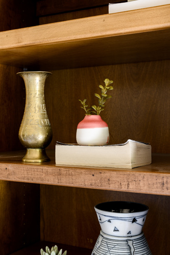 Small Pink & White Bud Vase