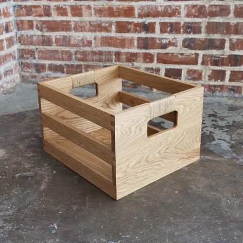 Dovetail Storage Crate - White Oak