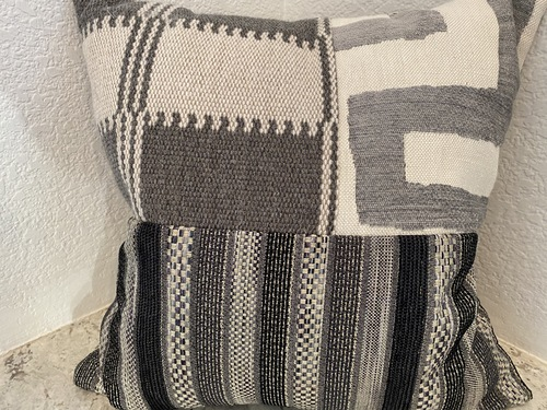 Grey Woven Patchwork Industrial