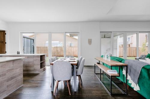Oak + Blackened Steel Sofa Table