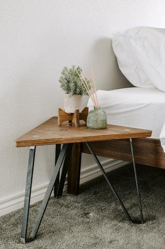 Nova Triangle Coffee Table - walnut/raw/S