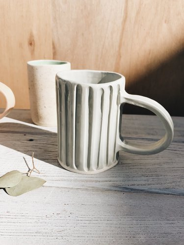 Organic Ceramic Lined Mug in Grey