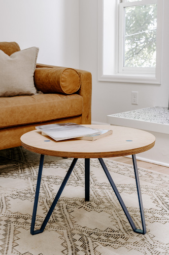 Nova Circle Coffee Table - ash/blue/L
