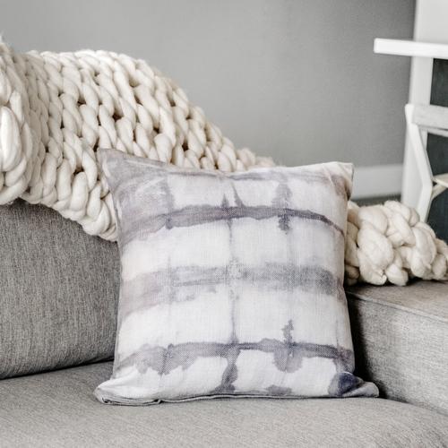Grey Shibori Pillow