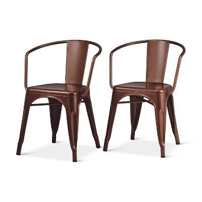 Highback Metal Dining Chair
