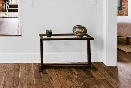 Walnut Picture Frame Table