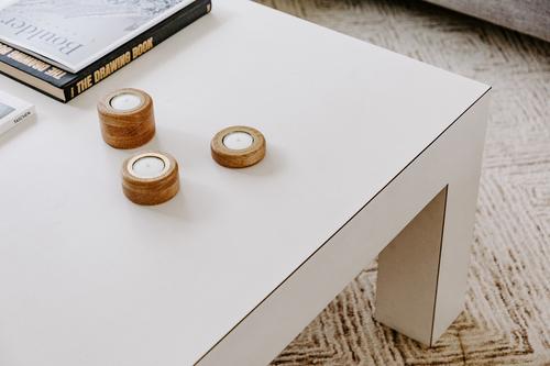 Candle Holder Set - White Oak