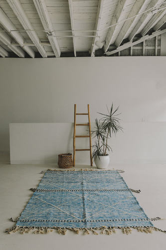 Zanafi Rug (5.10 x 8.8) - Blue/Blurred
