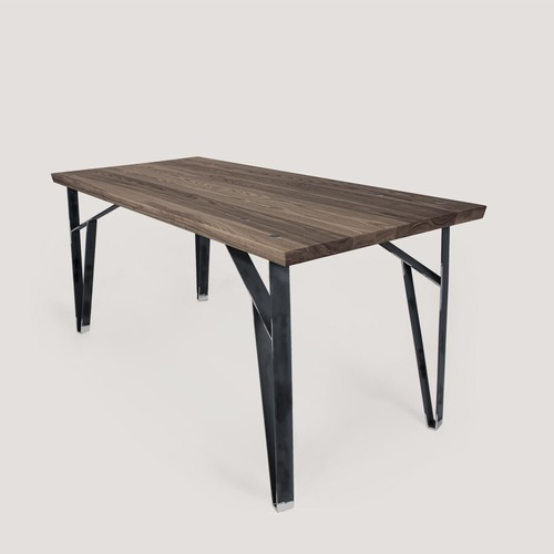 Truss Desk (Stained Ash and Raw Steel)