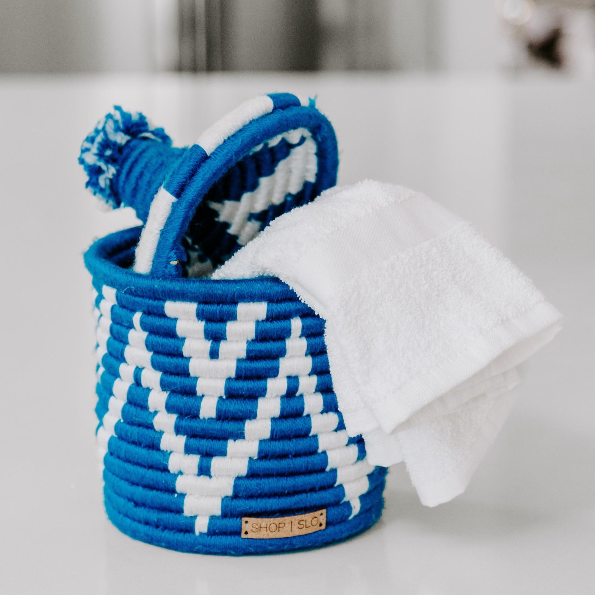 Vintage Souk Wool Basket