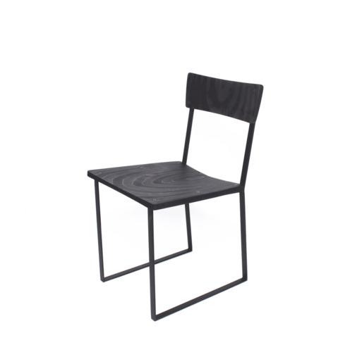Enright Chair (Black Wood & Black Steel)