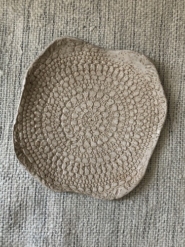 Vintage Doily Pottery Plate