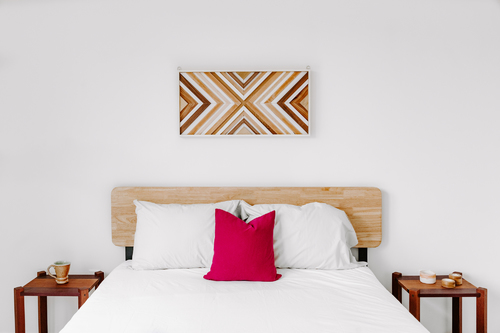 Rustic Geometric Wood Wall Art