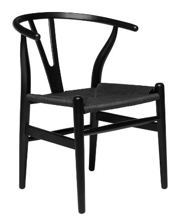 Black Wishbone Chair