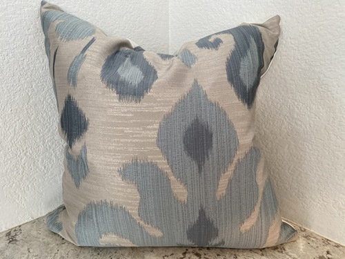 Blue Silk Ikat and Cotton Weave