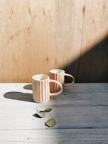Organic Ceramic Mug in Blush