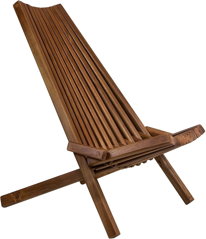 Tamarack Folding Wooden Outdoor Chair