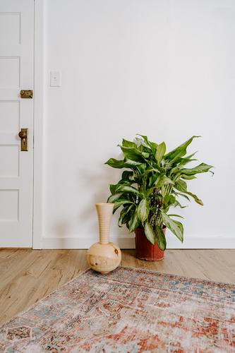 Large Handmade Wood Vase