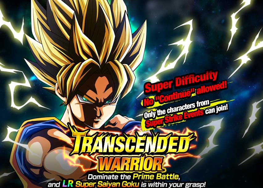 Goku - Transcended Warrior Prime Battle Event Guide - WML Cloud