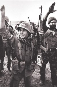 Iranian soldier during Iran-Iraq War.