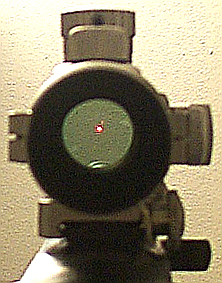 View through Tasco ProPoint II 5 MOA red dot sight