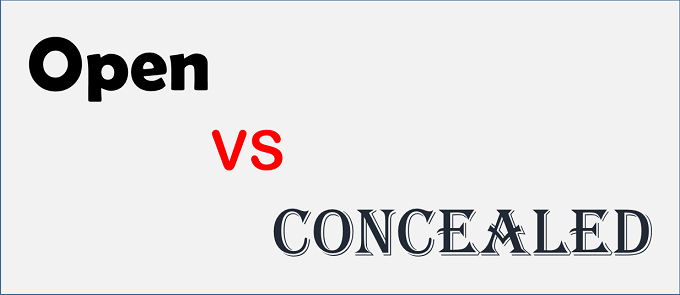 Open vs Concealed logo