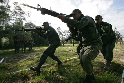 Brazilian marines lane training