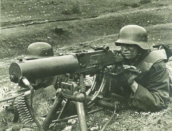 The Maschinengewehr 08, or MG 08