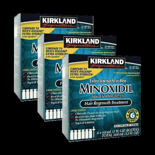 Minoxidil Kirkland 5% por 18 meses