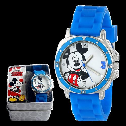 Reloj Mickey - infantil - azul