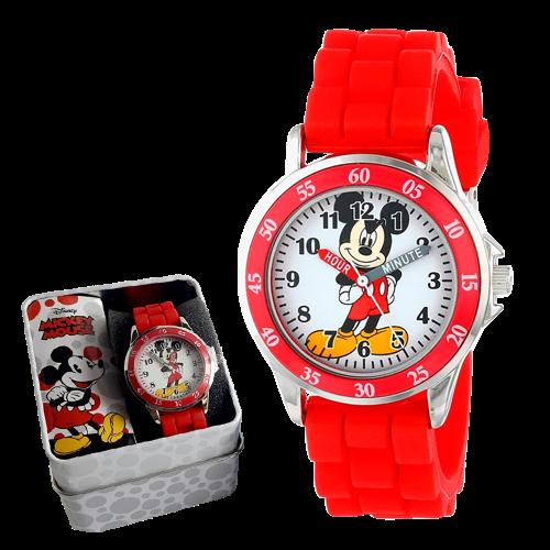 Reloj Mickey - infantil - rojo