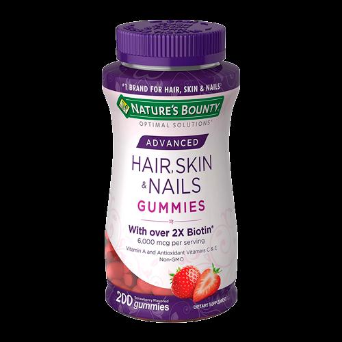 Hair, Skin & Nails 2x Biotin - 200 Gummies