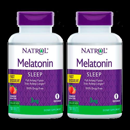 Pack de 2 unidades Melatonina Natrol 3mg 150 unidades