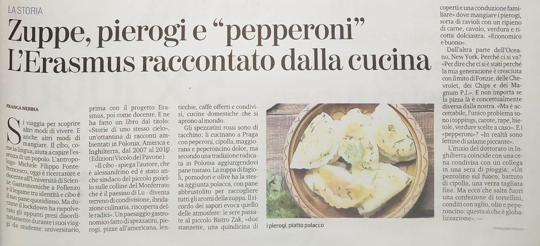 """Zuppe, pierogi e """"pepperoni"""", l'Erasmus raccontato dalla cucina"""