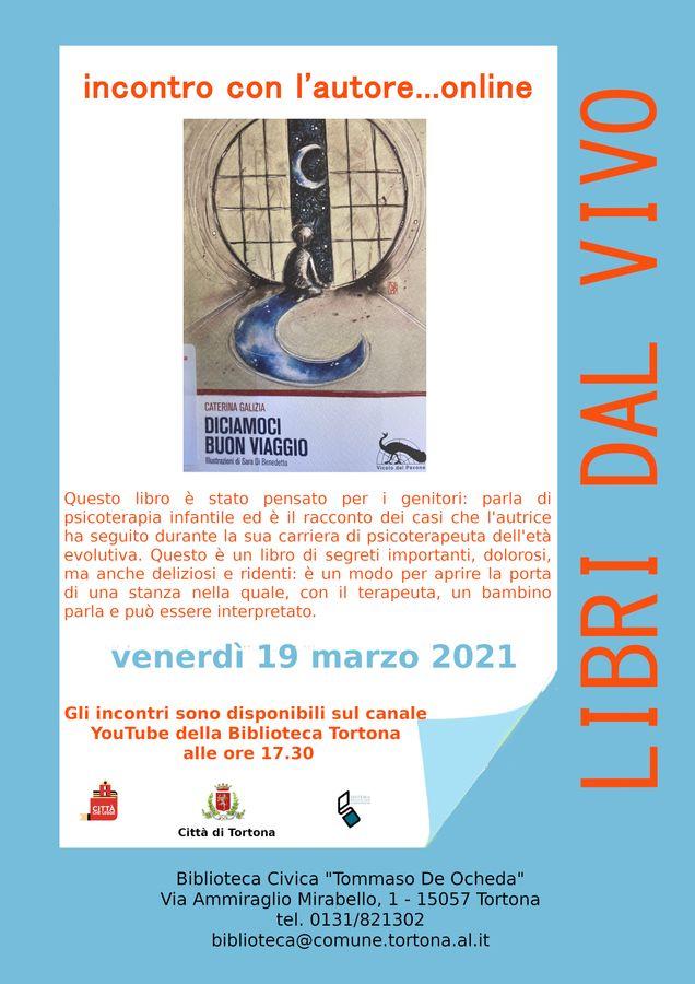 """Seguite la presentazione venerdì 19 marzo alle ore 17:30 sul canale YouTube """"Biblioteca Tortona""""."""