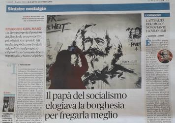 """""""Il Fatto Quotidiano"""" 1° Luglio 2019 - Guida per il lettore contemporaneo de Il Capitale di Karl Marx di Luigi Ferrari"""