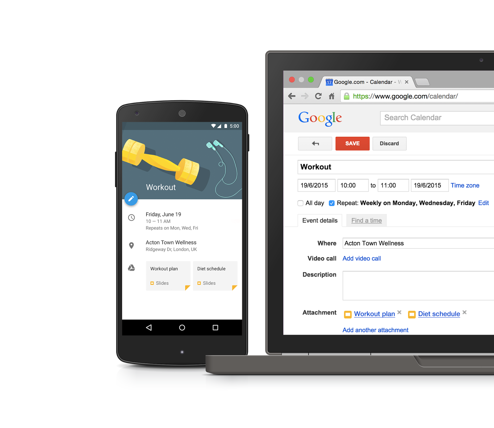 Attach Google Drive files to Calendar events with the Calendar API