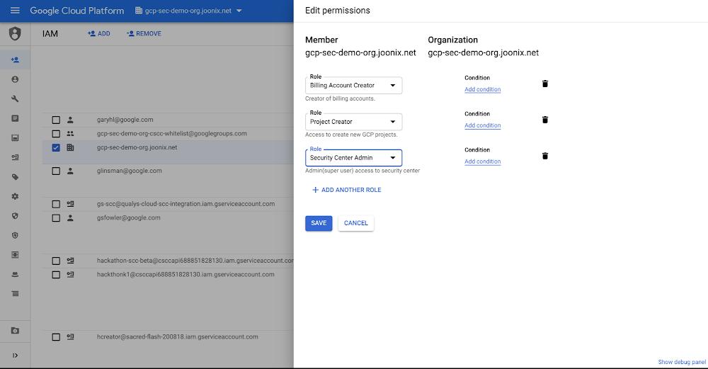 1 Set up Cloud IAM permissions.png