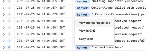 2 Viewing Monitoring data for GKE from a log line.jpg