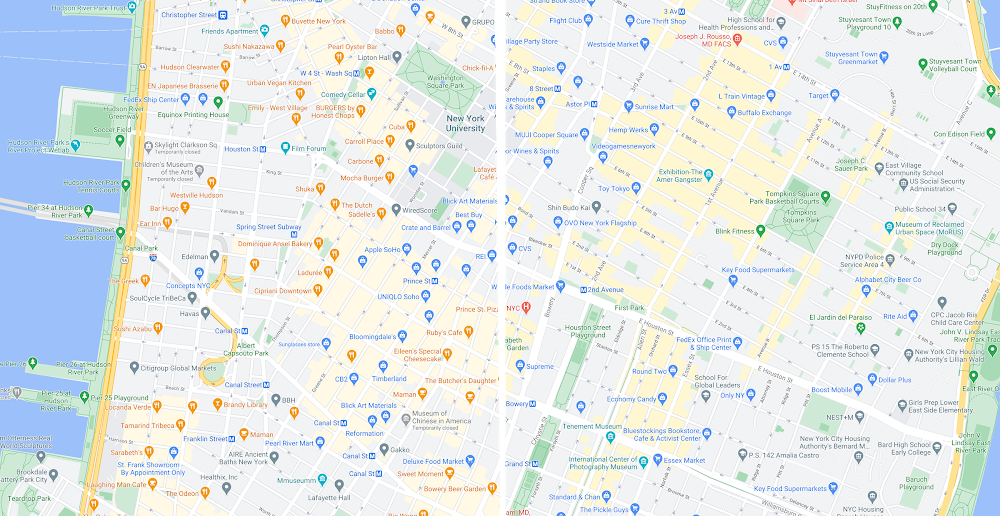 NYC travel and real estate map