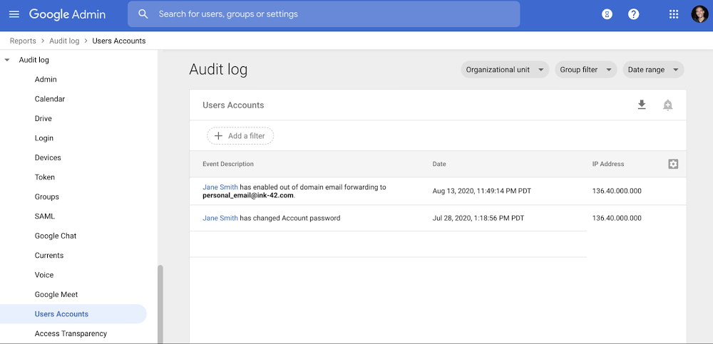 3 - Audit logs for out of domain forwarding in Gmail.jpg