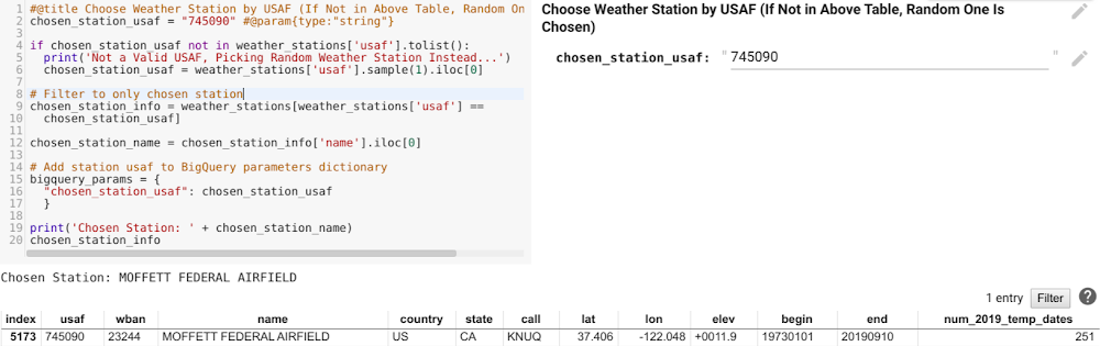 What's the weather like? Using Colab to get more out of