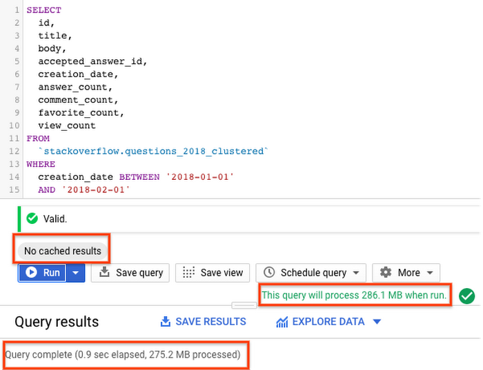 BigQuery StackOverflow questions query