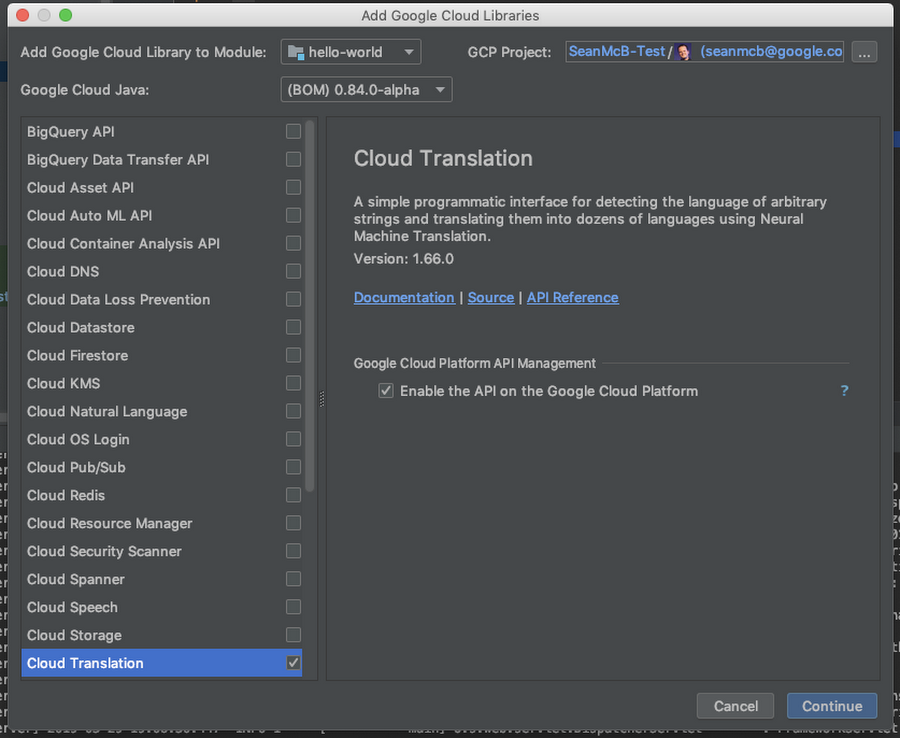 Cloud Code para la biblioteca de IntelliJ