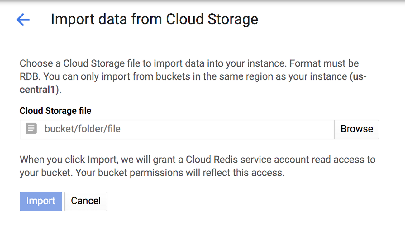 Cloud Memorystore import from cloud storage.png
