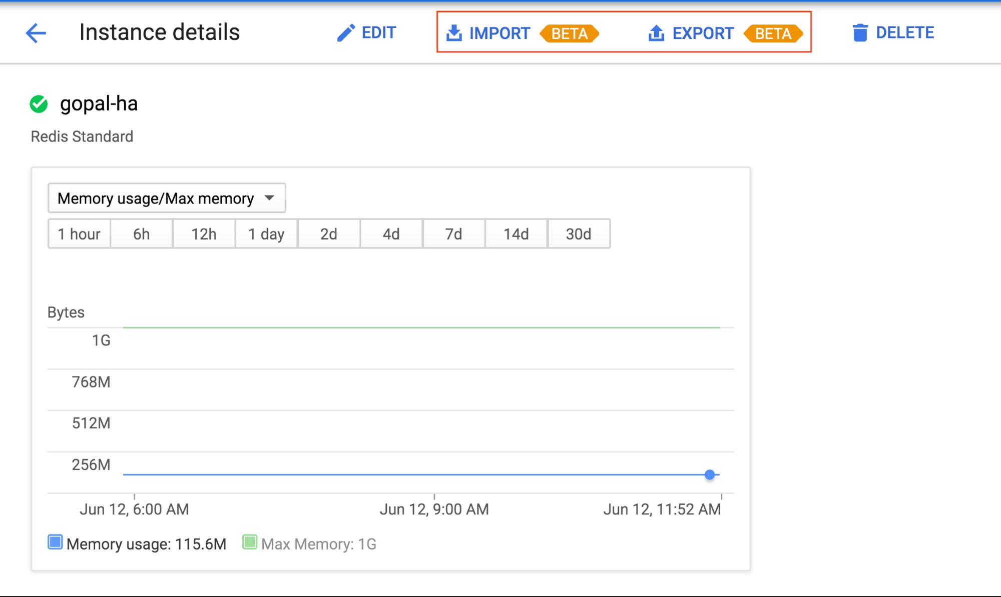 Cloud Memorystore instance details.png