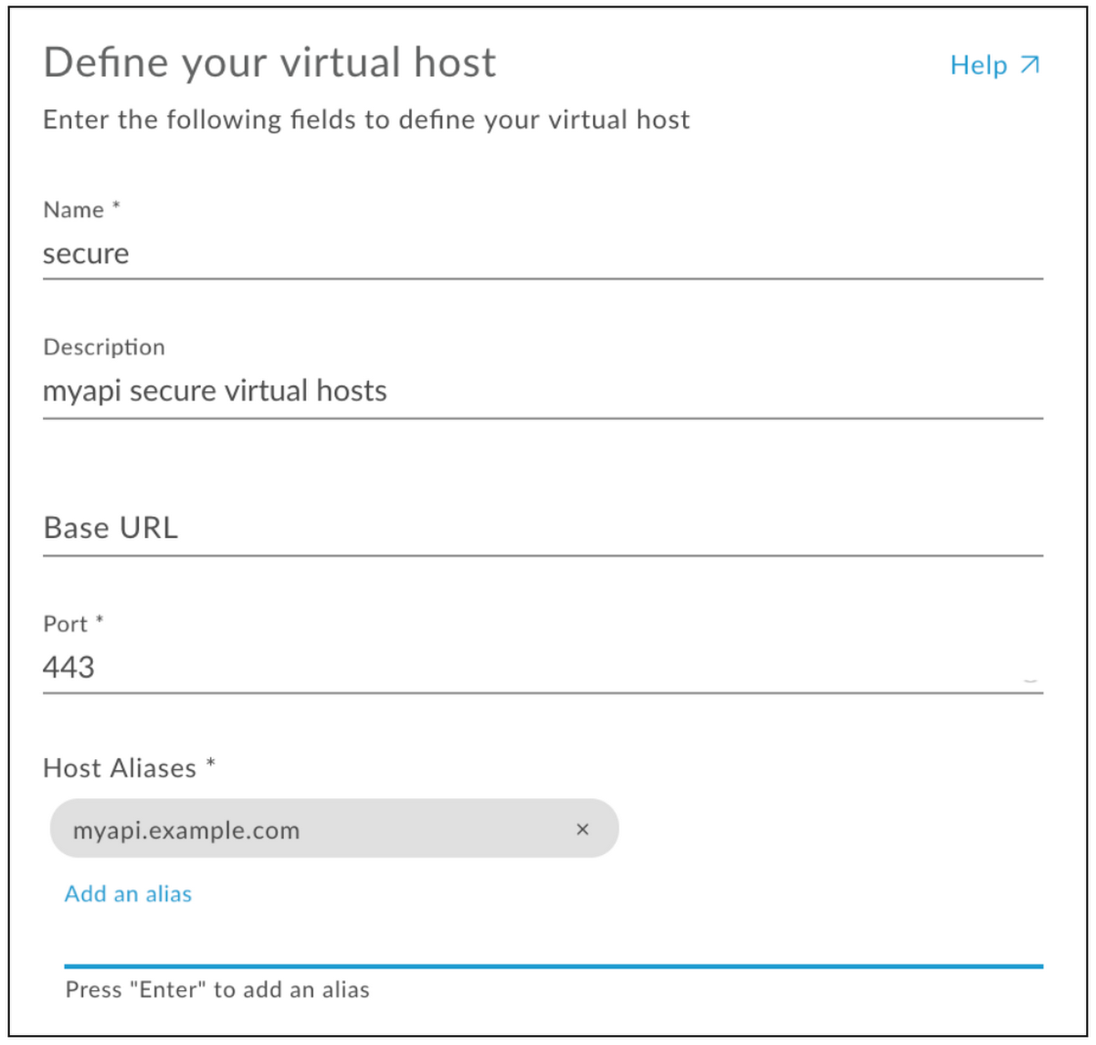 Define your virtual host
