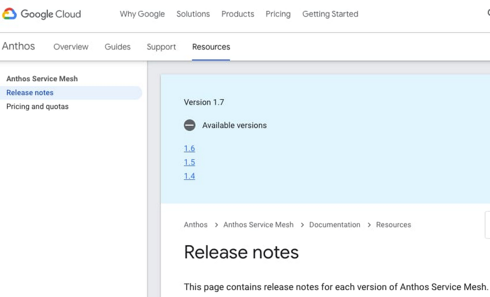 Fig 3.1 - Anthos Service Mesh version release notes.jpg